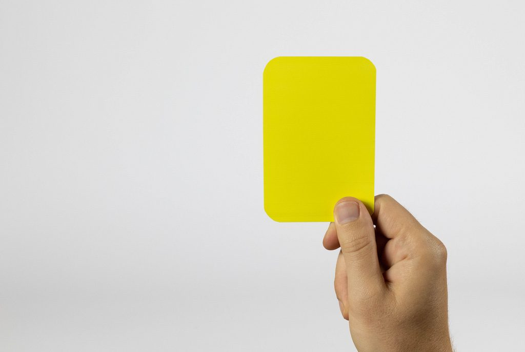 yellow card soccer